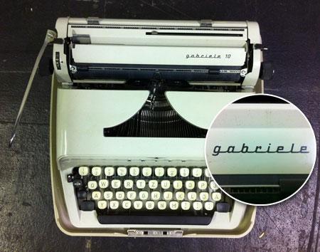 Schreibmaschine gabriele